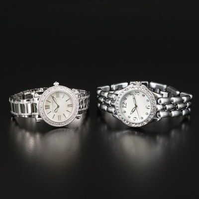 """Judith Ripka """"Summit"""" and Diamonique """"Comes and Goes"""" Wristwatch """""""
