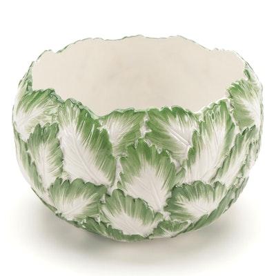 "Tiffany & Co. ""Green Leaves"" Porcelain Salad Bowl"