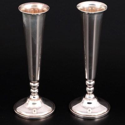 Revere Silversmiths Sterling Silver Trumpet Vases