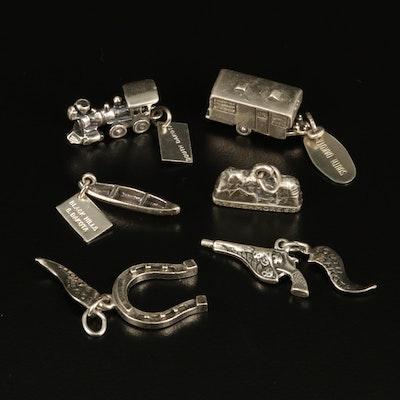 Vintage South Dakota Sterling Souvenir Charms