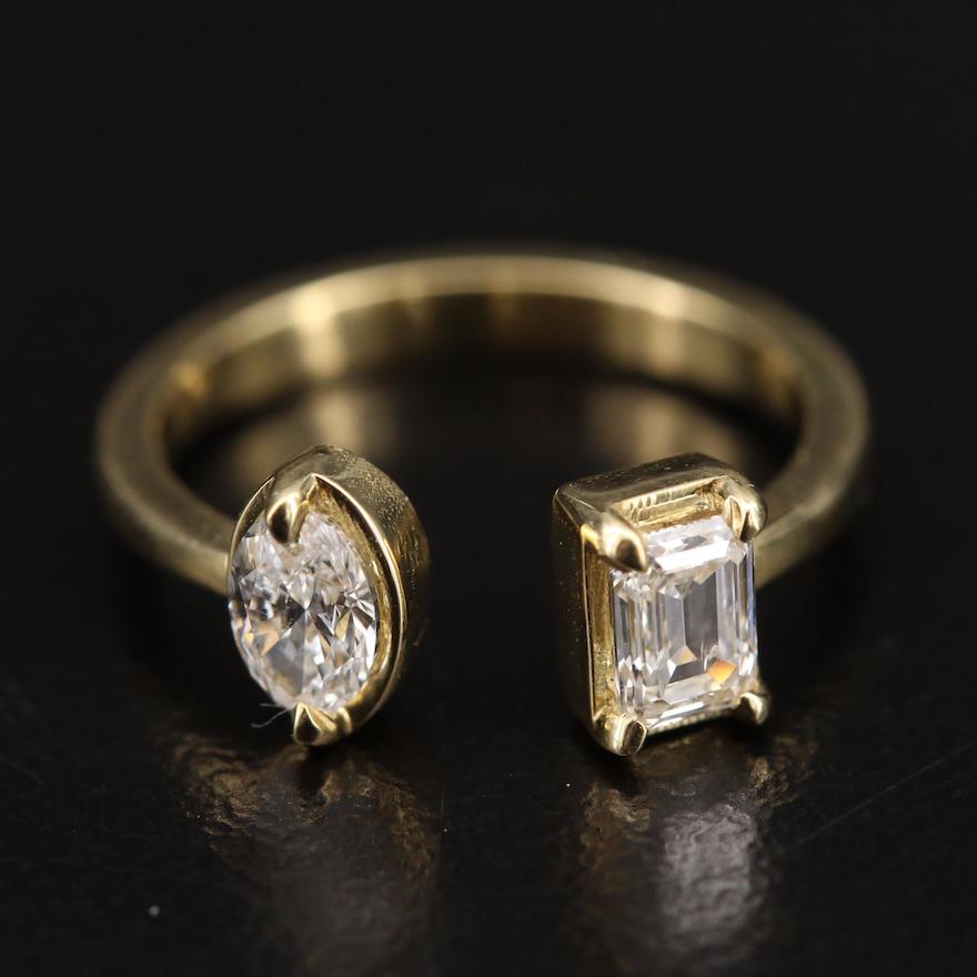 18K Diamond Torque Ring