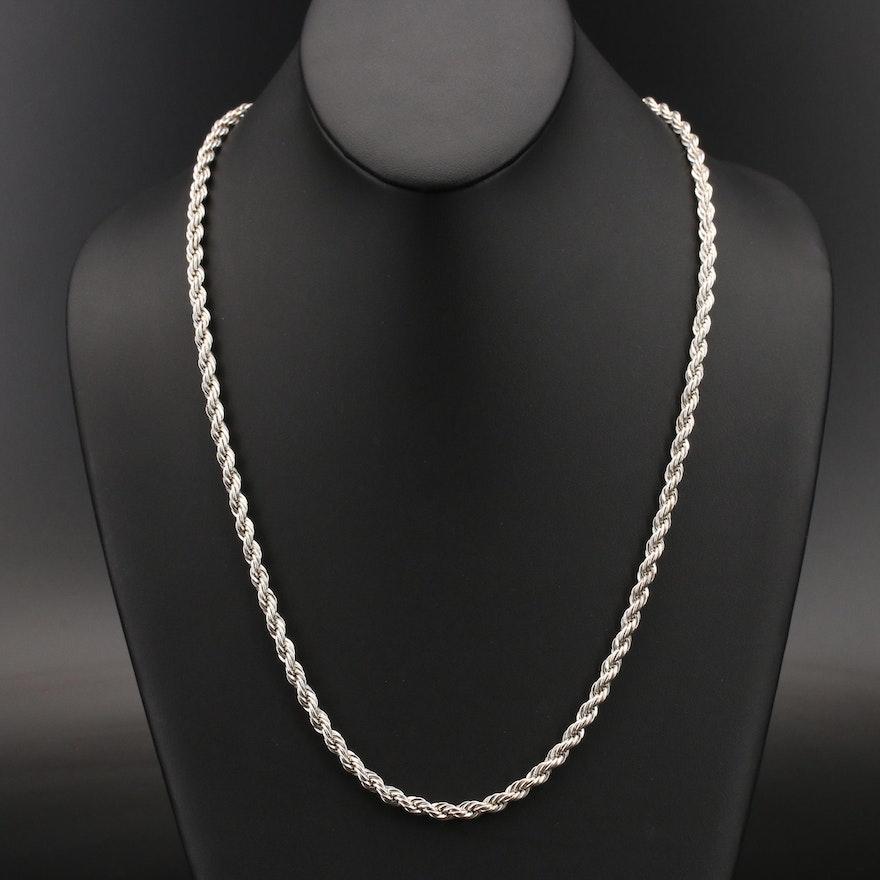 Sterling Rope Chain Necklace