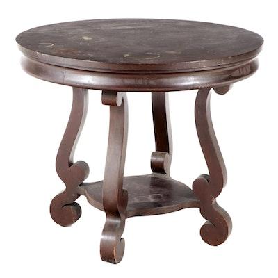 American Empire Revival Mahogany Center Table, Early 20th Century