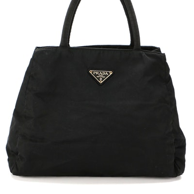 Prada Black Tessuto Nylon Handbag