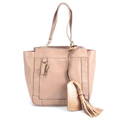 Chloé Eden Tassel Tote Bag in Tan Leather