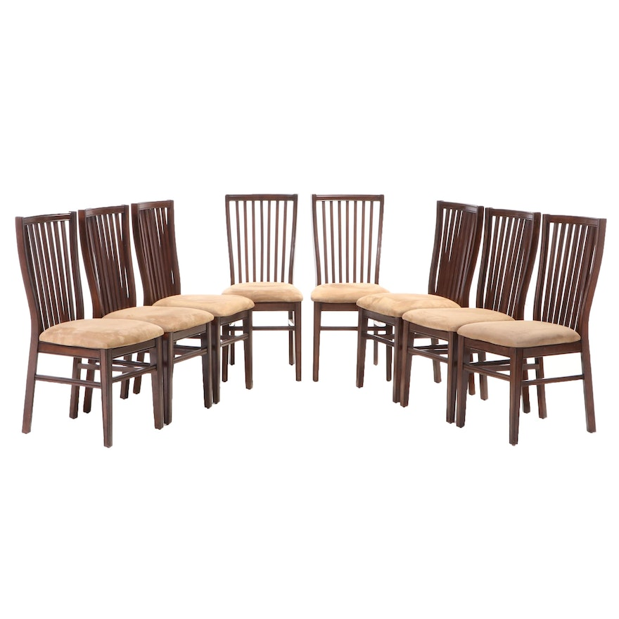 Eight Hepplewhite Style Dining Chairs, Mid-20th Century