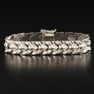 Italian Milor Sterling Silver Fancy Link Bracelet