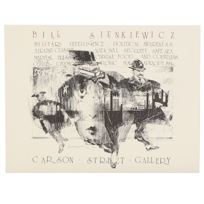 Bill Sienkiewicz Lithograph Exhibition Poster for Carson Street Gallery