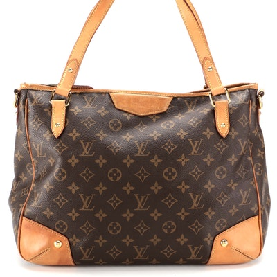 Louis Vuitton Estrela MM Bag in Monogram Canvas and Vachetta Leather