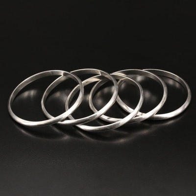 Sterling Silver Stackable Bangles