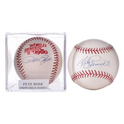 Pete Rose and Mike Schmidt Signed Rawlings Major League Baseballs, COAs