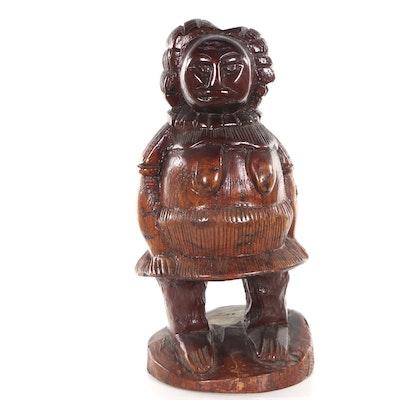 F. Stor Carved Wooden Sculpture