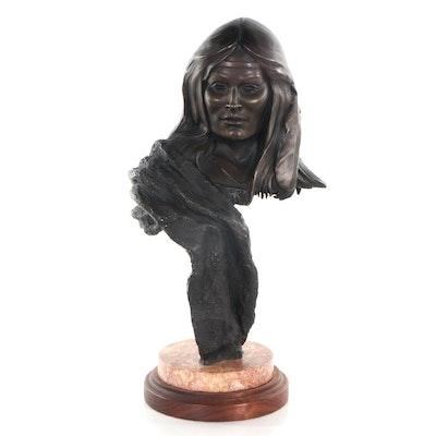 Stephen LeBlanc Figural Bronze Sculpture