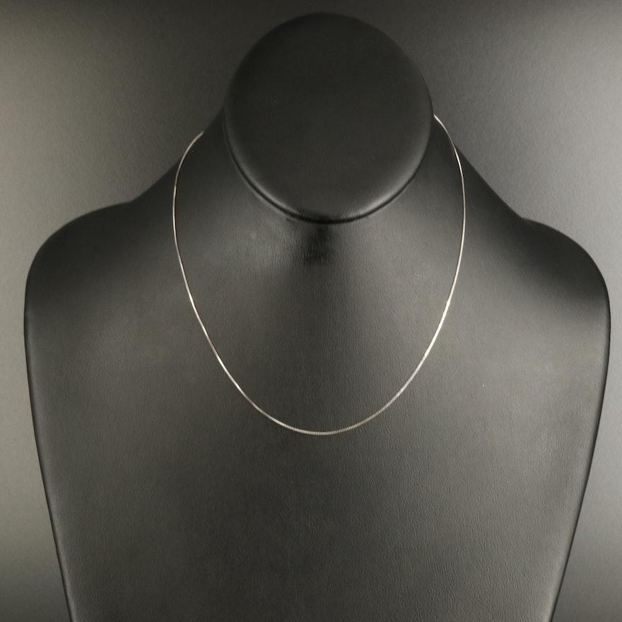 Turkish 14K Box Chain Link Necklace