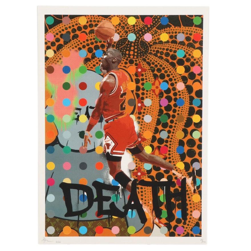 Death NYC Michael Jordan Dunk Pop Art Graphic Print, 2020