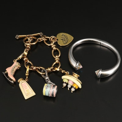 Kendra Scott Cuff with Pouch and Juicy Couture Charm Bracelet with Box