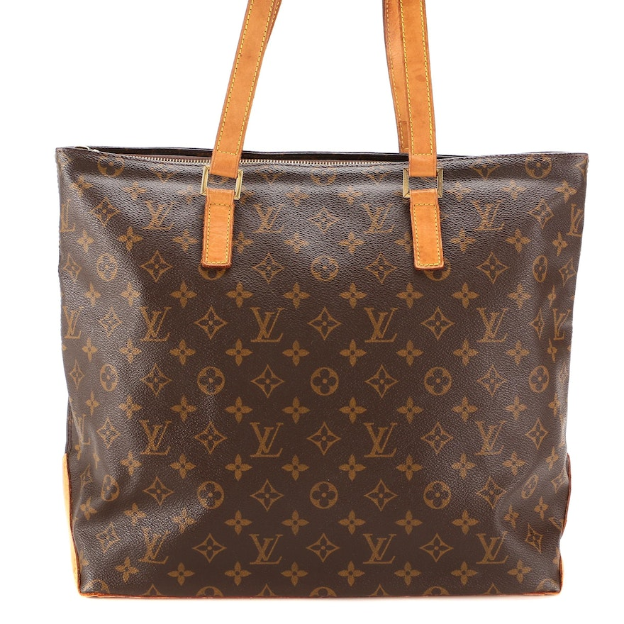Louis Vuitton Cabas Piano Bag in Monogram Canvas with Vachetta Leather