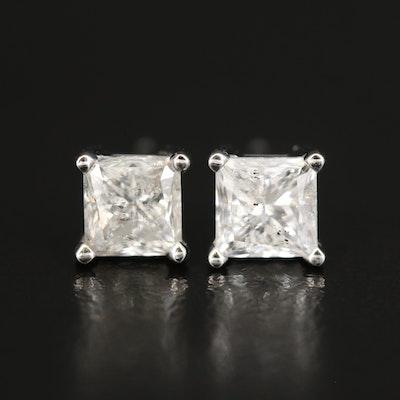 14K 2.10 CTW Diamond Stud Earrings with GIA Diamond Dossier