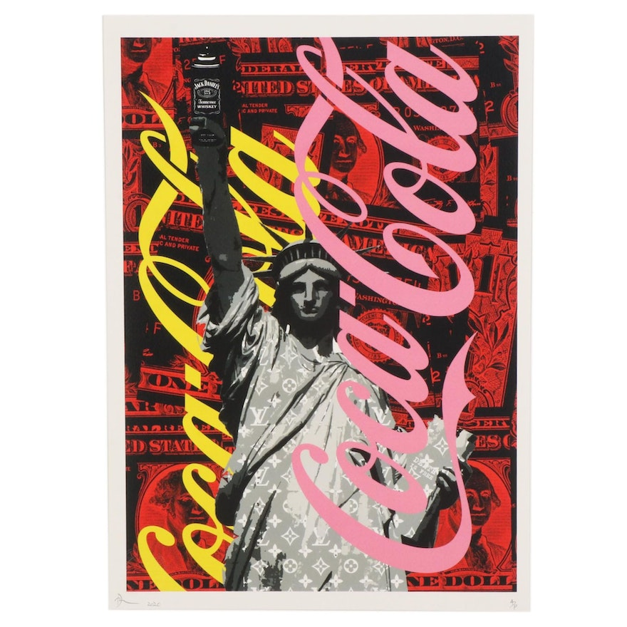 Death NYC Pop Art Graphic Print Featuring Statue of Liberty, 2020