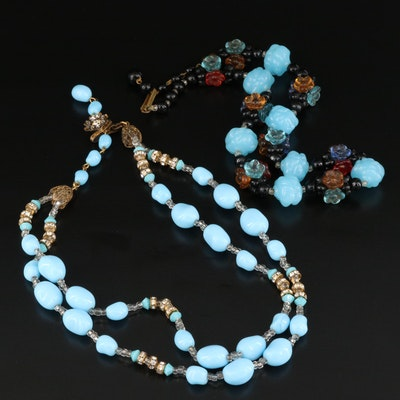 1950s Miriam Haskell and Western Germany Necklaces
