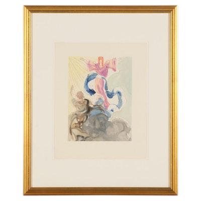 """Salvador Dalí Wood Engraving """"Le Premier Ciel"""""""