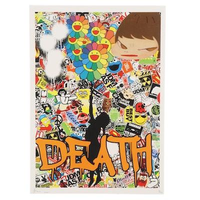 Death NYC Brand Collage Pop Art Graphic Print , 2020
