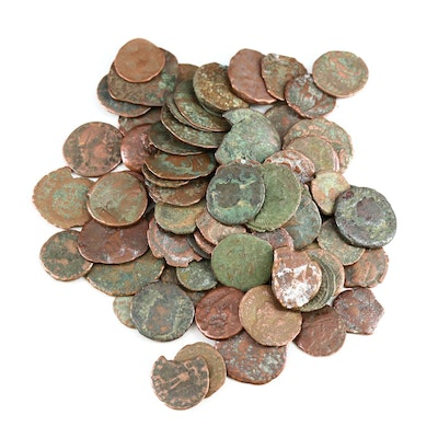 Eighty Uncleaned Ancient Roman Coins