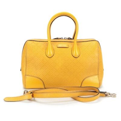 Gucci Boston Bag in Yellow Diamante Leather