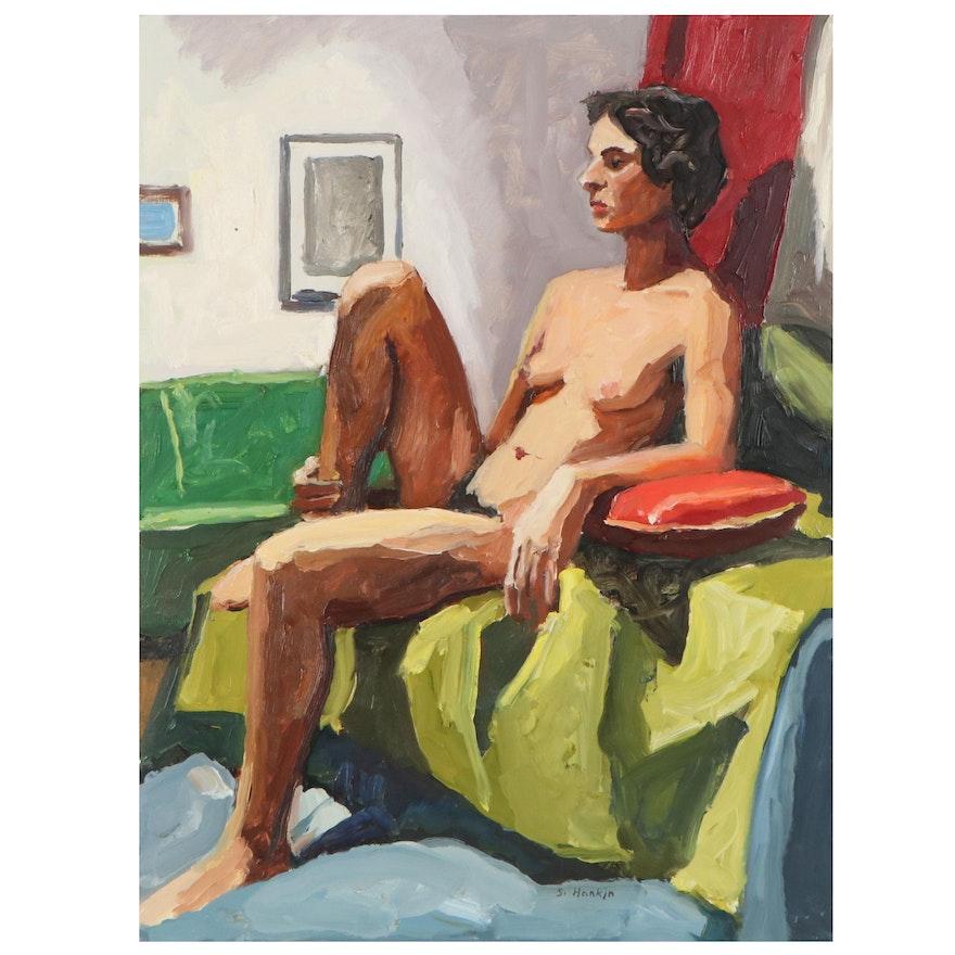 "Stephen Hankin Oil Portrait ""Sara,"" 21st Century"
