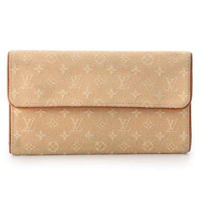 Louis Vuitton Beige Monogram Mini Lin Canvas Porte Trésor International Wallet