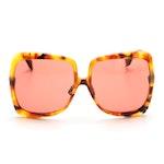 Fendi 0429/S Promeneye Oversized Rose Tinted Sunglasses