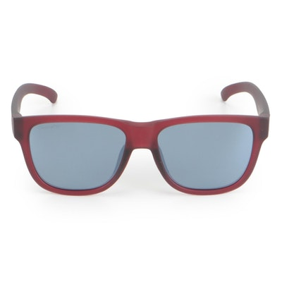 Smith Lowdown Slim 2 Polarized Sunglasses in Matte Crystal Deep Maroon with Case