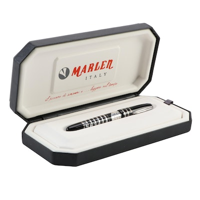 """Marlen """"HTF Géneve"""" Sterling Silver and Resin Fountain Pen"""