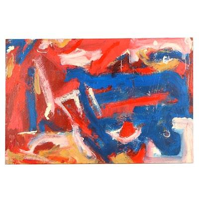 "Robbie Kemper Acrylic Painting ""Blue Path"""