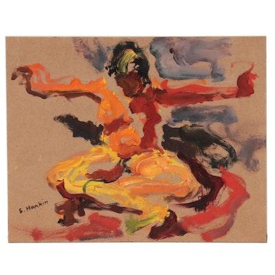 Stephen Hankin Abstract Figural Oil Painting, 21st Century