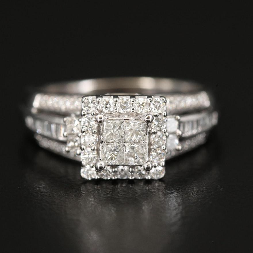10K 1.05 CTW Diamond Ring