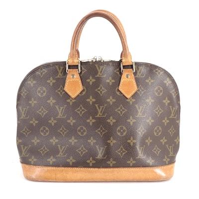 Louis Vuitton Alma PM in Monogram Canvas and Vachetta Leather