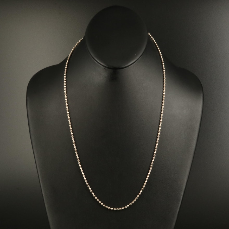 Coach Sterling Bead Chain Necklace