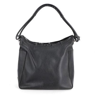 Gucci Single Strap Shoulder Bag in Black Leather