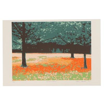 "Thomas Norulak Serigraph ""Cook Forest Autumn,"" 2003"