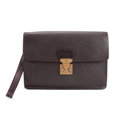 Louis Vuitton Kourad Clutch Bag in Taïga Leather