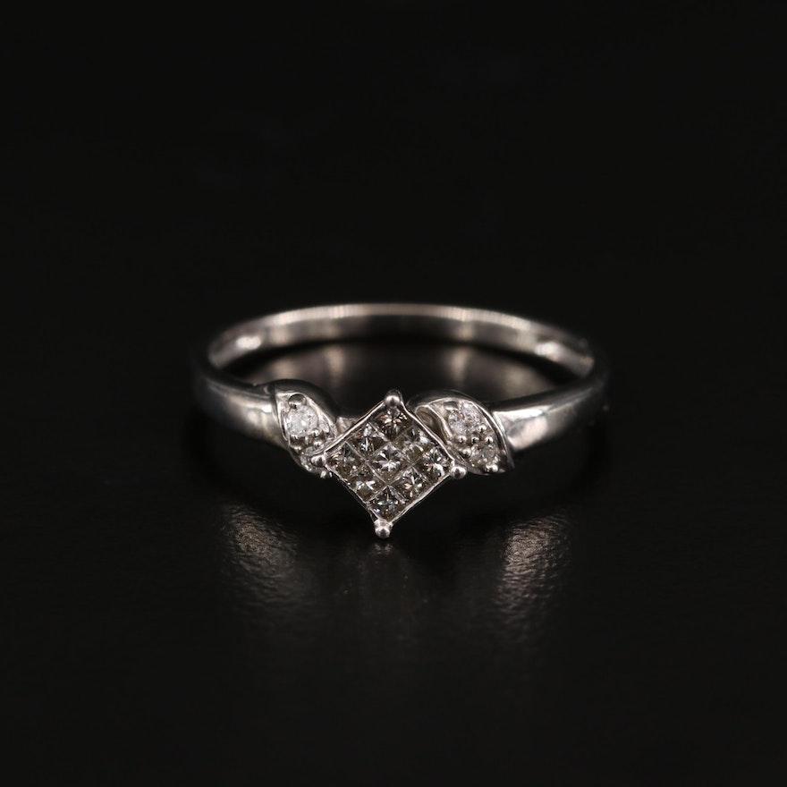 14K Diamond Ring with Diamond Accents