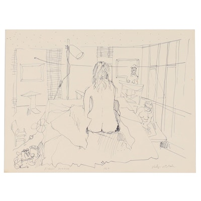 """Philip the Transplant Ink """"Figure Drawing,"""" 1969"""