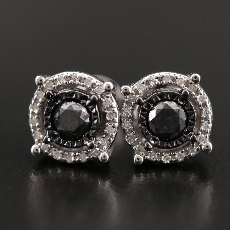 Sterling Diamond Earrings