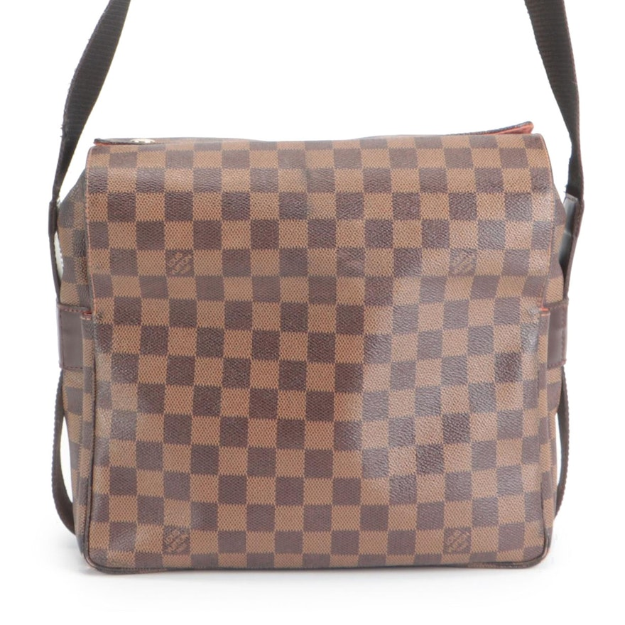 Louis Vuitton Naviglio in Damier Ebene Canvas and Smooth Leather