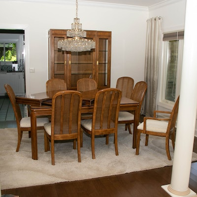 """Drexel-Heritage """"Passage"""" Oak Dining Table and Chairs"""