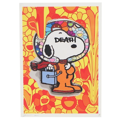 Death NYC Offset Lithograph of Snoopy in Space Suit, 2020