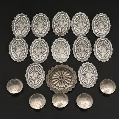 Oval Conchos and Buffalo Nickel Button Covers