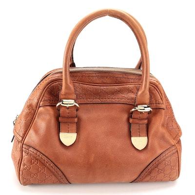 Gucci Signoria Guccissima Leather Dome Top Bag