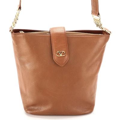 Valentino Garavani Shoulder Bag in Light Brown Leather